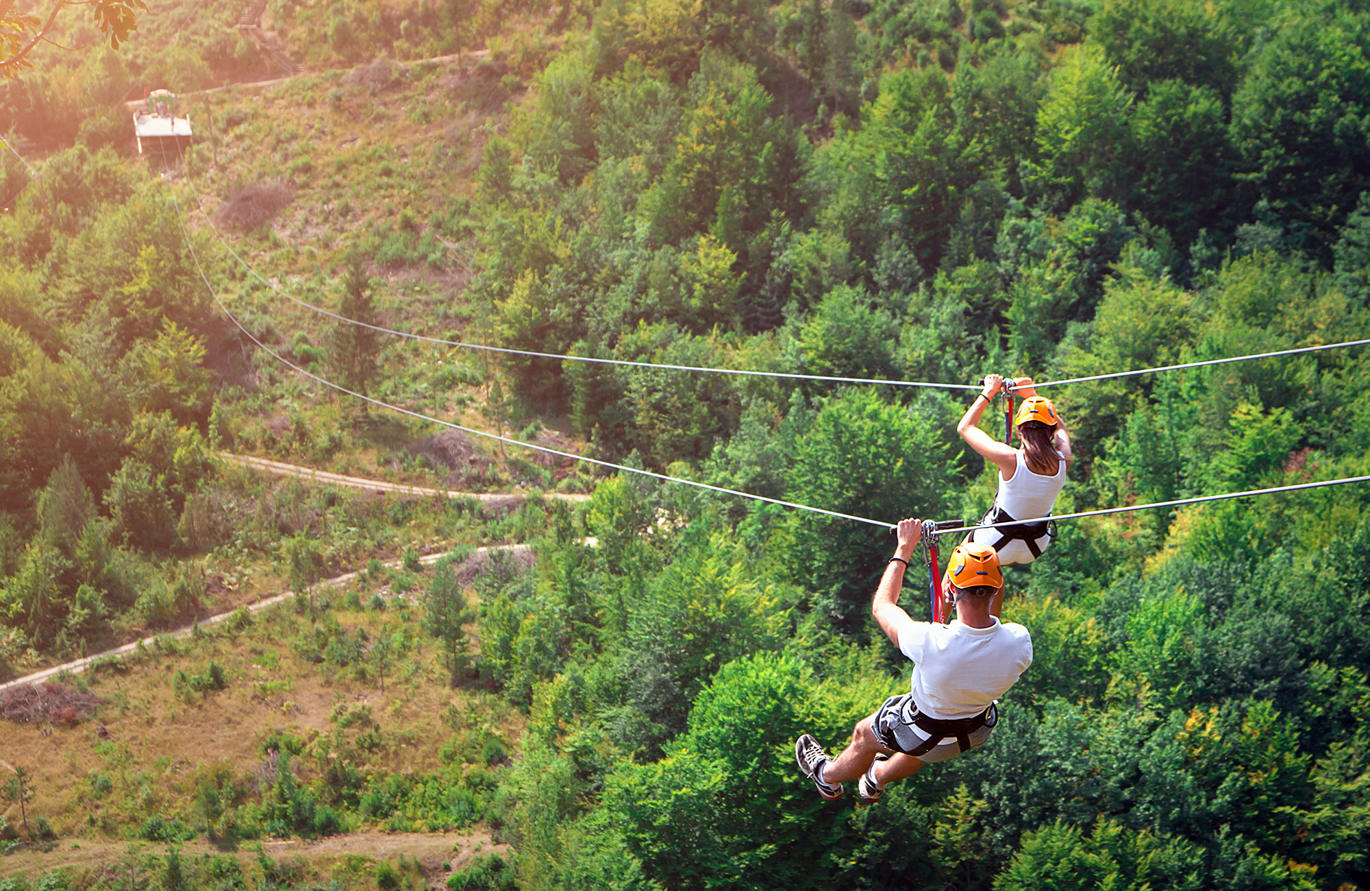 zipline through valleys in montenegro